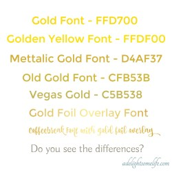 Small Of Metallic Gold Color Code