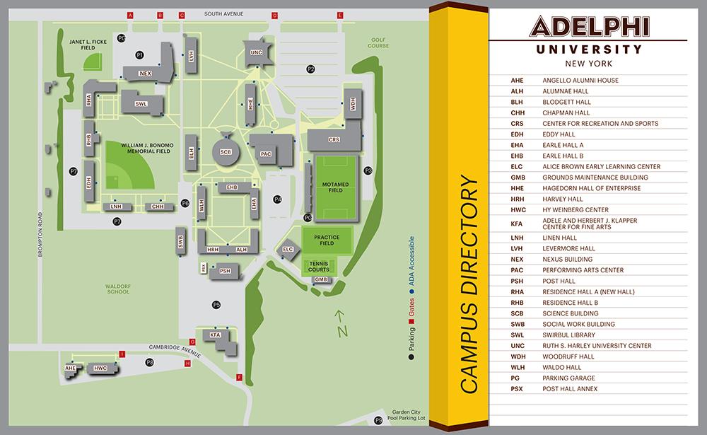 adelphi campus map