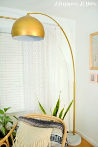 How I Made It: Gold Arc Lamp - A Designer At Home