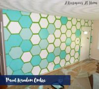 How To Paint A Hexagon Patterned Wall - A Designer At Home