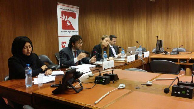 ADHRB تنظم حلقة نقاش حول الحقوق الثقافية والدينية في السعودية في مجلس حقوق الإنسان خلال الدورة 34