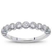 Vintage Bezel Set 0.30 cttw Diamond Wedding Band | Adiamor ...