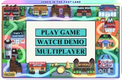 Jones In The Fast Lane Flash Game - Menu
