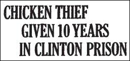 Chicken Thief headline 1931 01