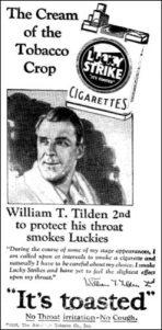 3TildenSmokingAd1928