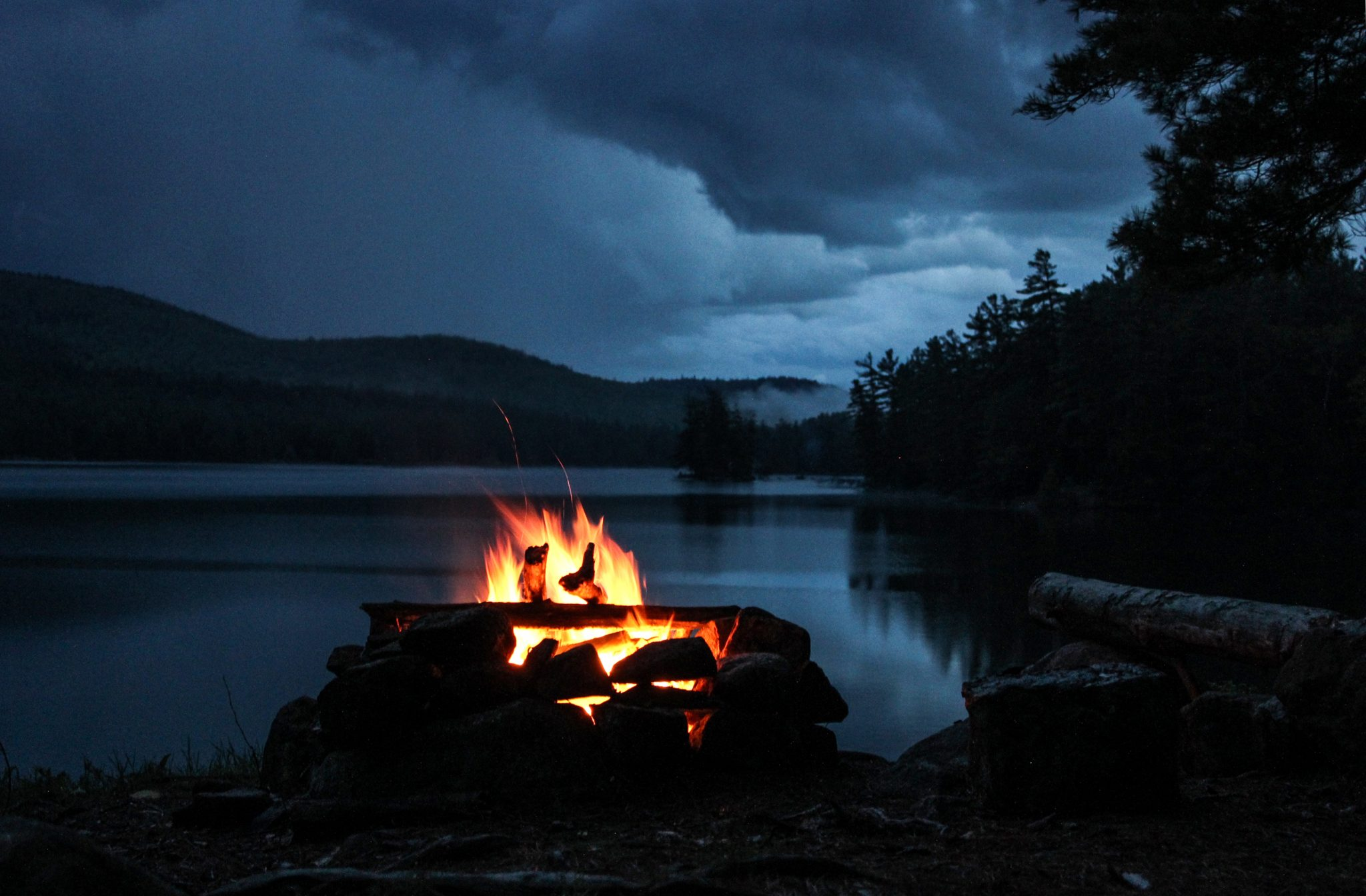 Rainy Fall Day Wallpaper Pharaoh Lake Wilderness A Campfire Between Storms The