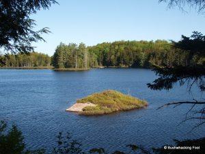 Small island on Evergreen Lake