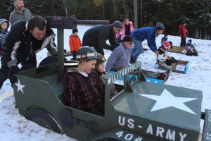 Adk Cardboard Sled Racing Circuit Heat