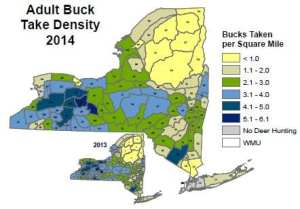 Adult Buck Take Density 2014