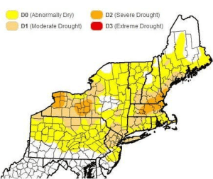 The U.S. Drought Monitor Map issued on Tuesday, July 12