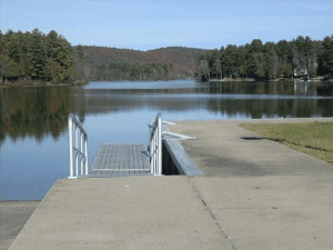 view from schroon lake boat launch