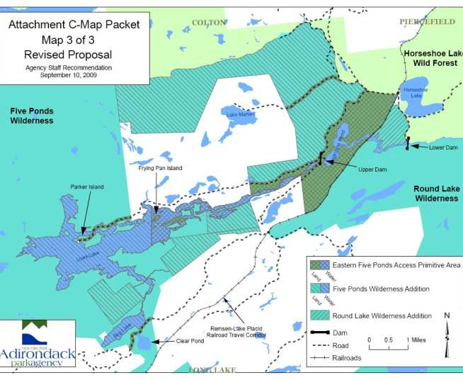 The changes shown on the map were approved Friday with the exception of the classification of the surface waters and lakebeds. Courtesy of APA.