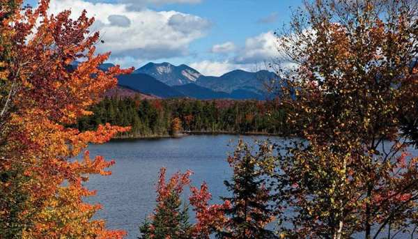 The state plans to buy Boreas Ponds, with its view of the High Peaks, in the last phase of the Finch, Pruyn deal. Photo by Nancie Battaglia