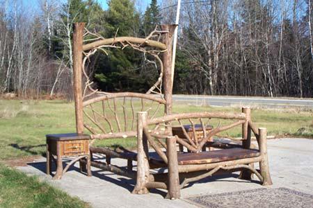 Adirondack rustic bed frames birch abrk dressers rustic