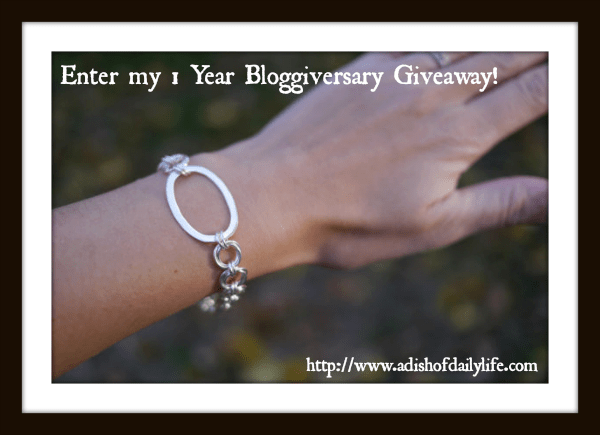 Bracelet for Bloggiversary Giveaway