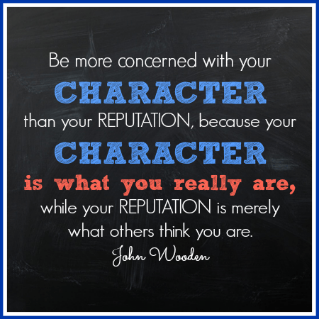 John Wooden Character Quote
