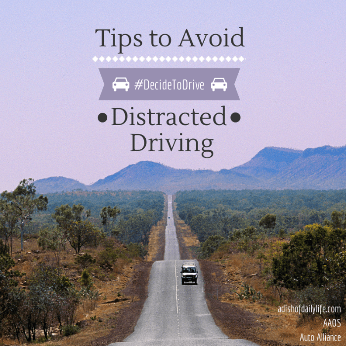 Tips to Avoid Distracted Driving #DecideToDrive