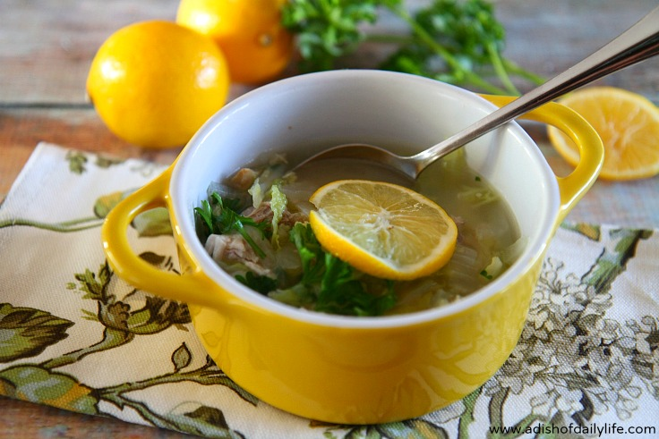 Chicken and Cabbage soup with Quinoa