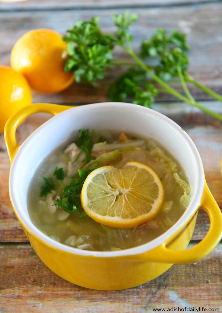 Healthy and delicious, this Lemony Chicken and Cabbage Soup with Quinoa is an easy to make dinner that you can put on the table in less than 30 minutes.