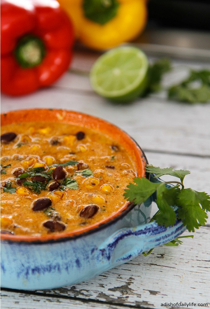 One Pot Chicken Enchilada Soup, shared by A Dish of Daily Life at The Chicken Chick's Clever Chicks Blog Hop