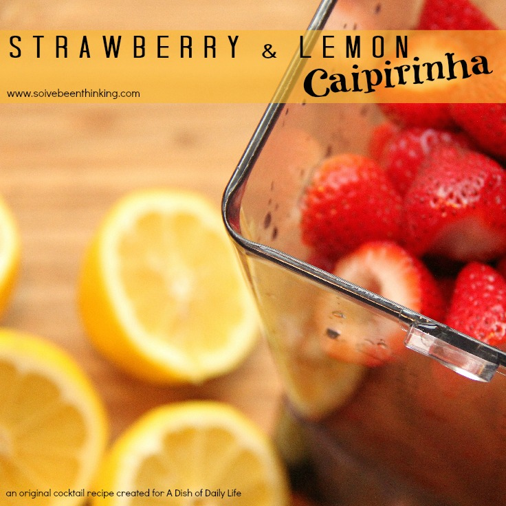 Strawberry & Lemon Caipirinha