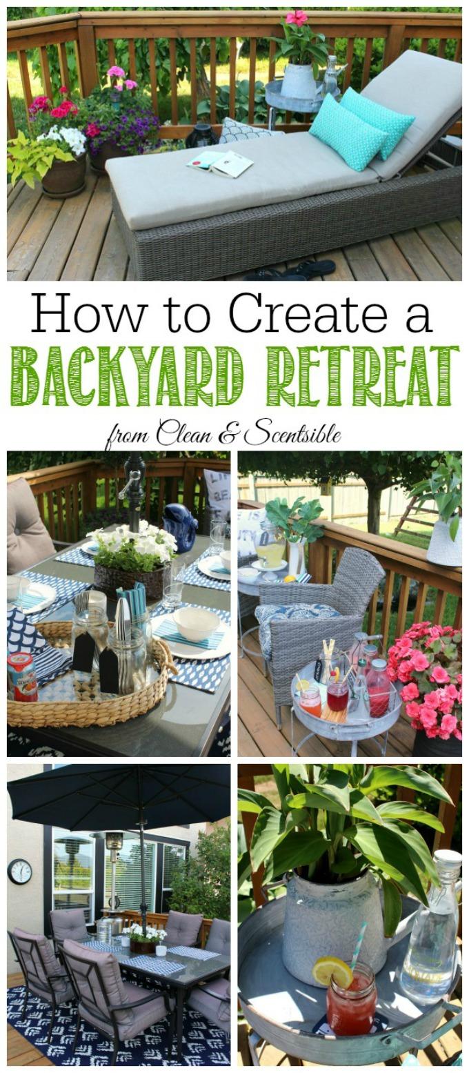 How to create a backyard retreat