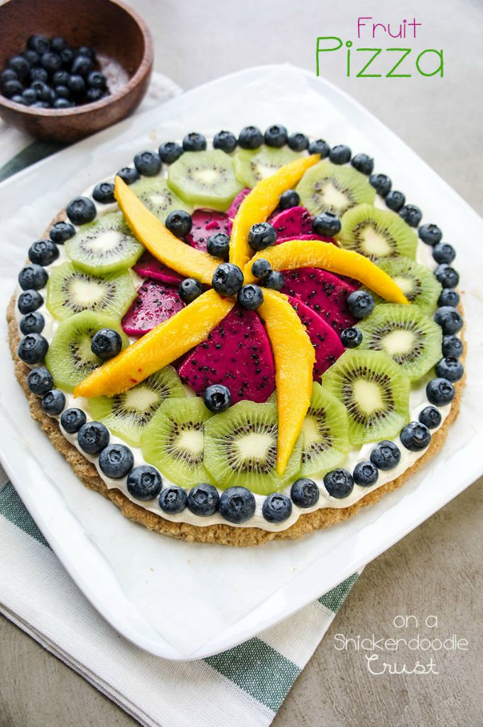 Fruit Pizza with a Snickerdoodle Crust