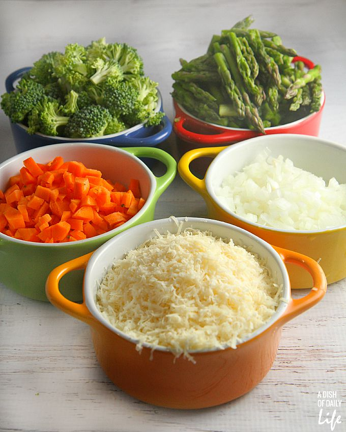 ingredients for vegetable risotto