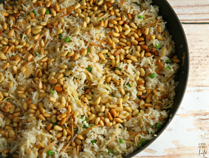 This delicious Rice Pilaf recipe was inspired by my husband's Lebanese roots. It's an elegant, easy-to-make side dish, the perfect addition to your Thanksgiving or Christmas menu.