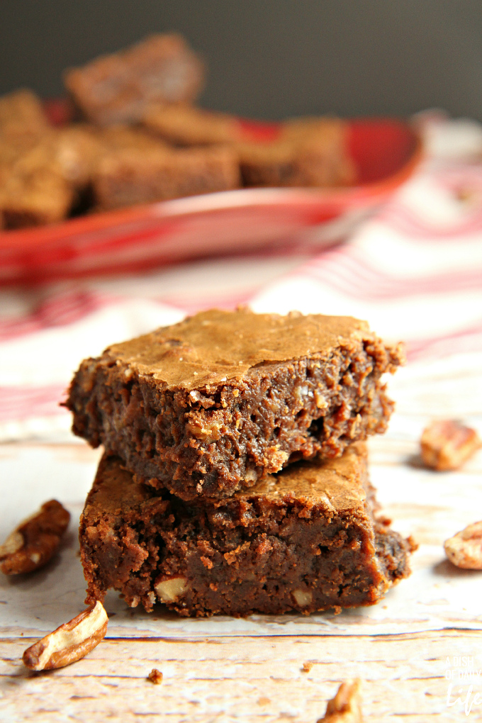 MOUTHWATERING GOOD! This is the only brownie recipe you will ever need! Rich chocolately goodness with pecans, coconut, and chocolate chips...INCREDIBLE!