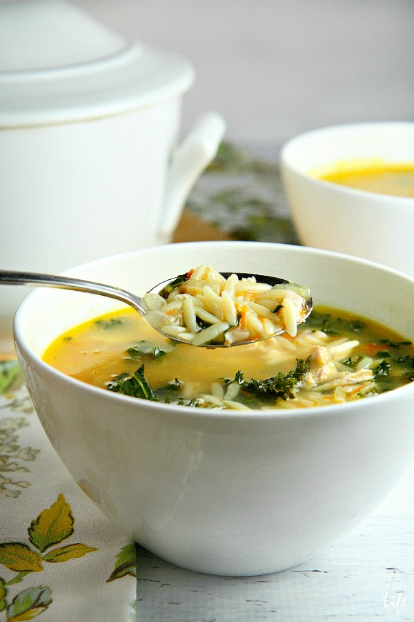 Lemon Chicken Orzo Soup + 14 more easy soup recipes for National Homemade Soup Day!