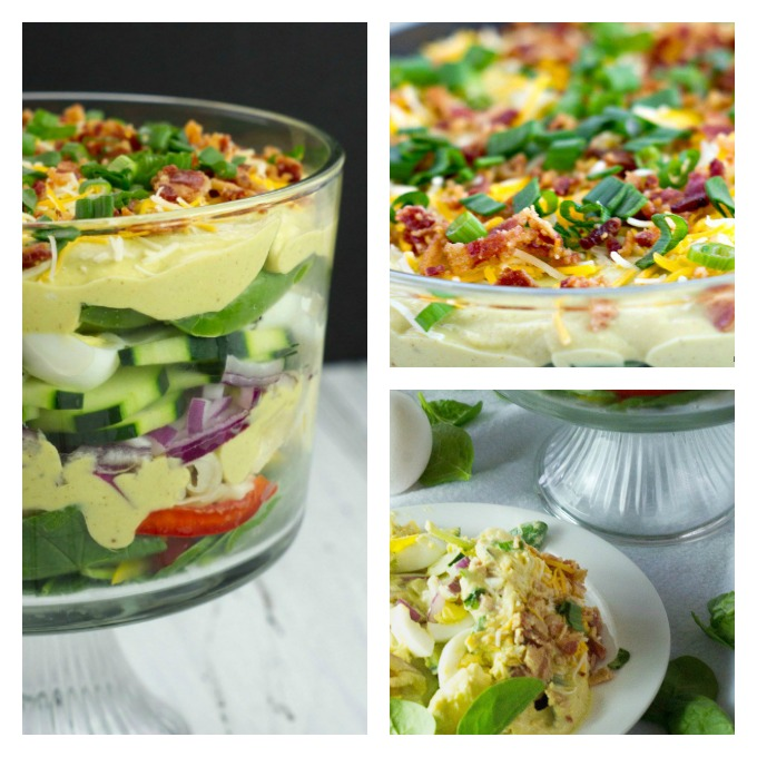 CREAMY DEVILED EGG LAYERED PASTA SALAD