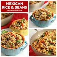 Mexican rice and beans square