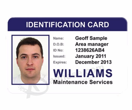 Wholesale custom Free Samples PVC Facebook Id Card Employee Id Cards - sample id cards