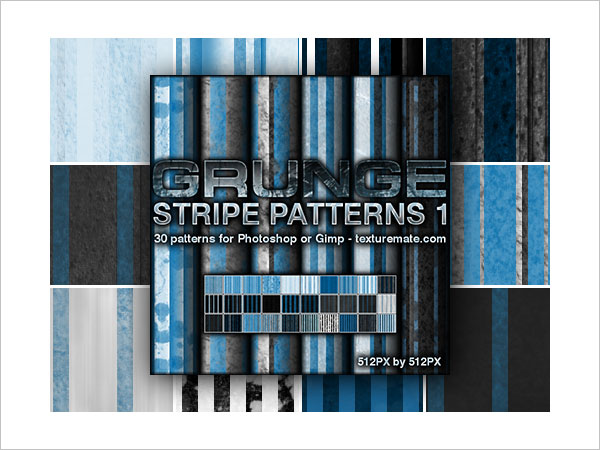 Grunge Stripes 1 Pattern Set