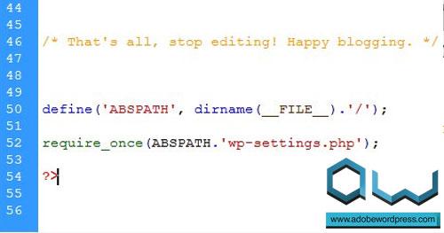 wp-config.php Satır Sonu