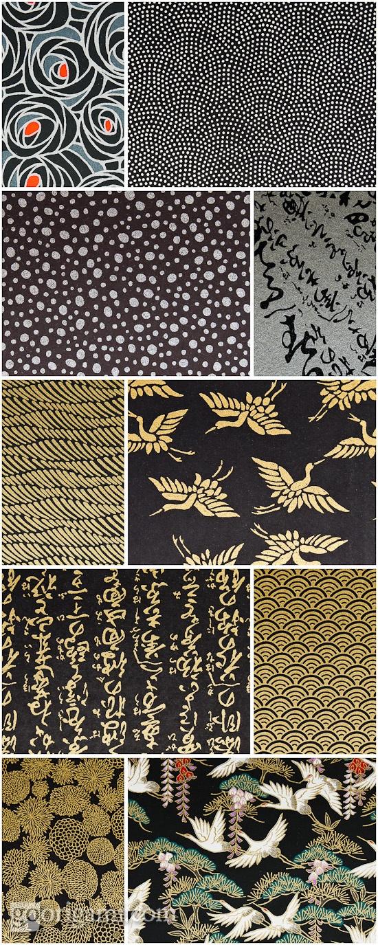 Chiyogami Paper Black