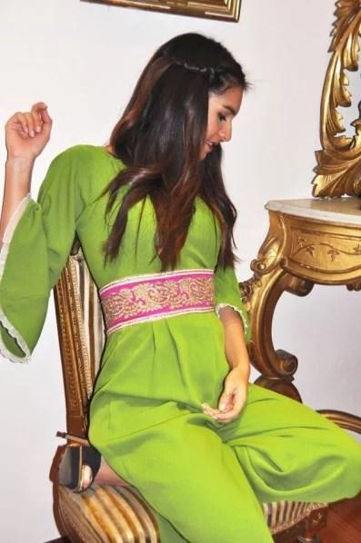 conjunto verde pant arabe bordado buganvilla 4