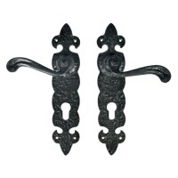 Quality Black Ironmongery Handle with Back Plate | Black ...