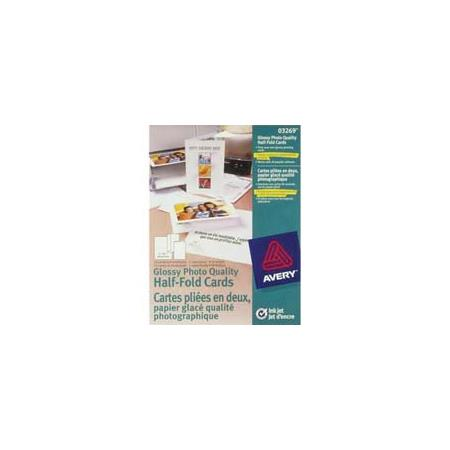 Avery Dennison Personal Creations, 20 Glossy White Inkjet Greeting
