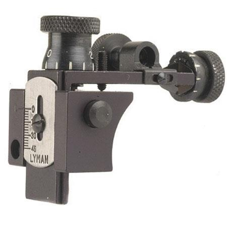 Lyman 57SMET Receiver Sight with Target Knobs, Aluminum Blue 3572091