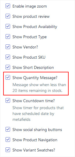 How to show product quantity message? - Adorn Themes
