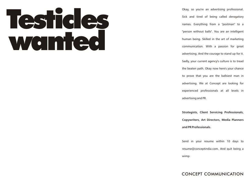 Bold recruitment ad Copywriting Pinterest Творческий - resume job