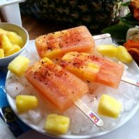 Pineapple Chamoy Ice Pops