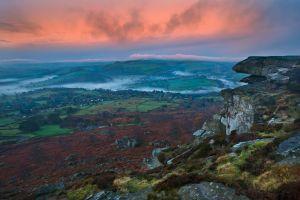 Curbar Rocks and Mist Inversion
