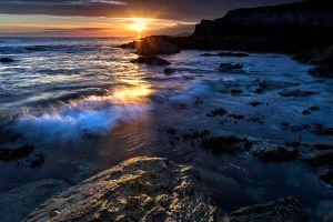 Porth Y Post Sunset Rock