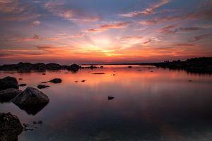 Rock pool Sunset Skies
