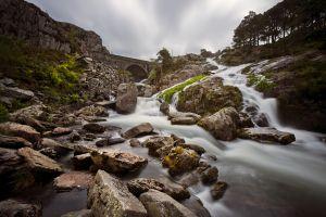Waterfall off Llyn Ogwen Smooth
