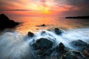 Sunset Mist 'N' Rocks