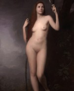 """Truth Corrupted By Vanity ©2011 By Adrian Gottlieb Oil on Belgian Linen Size: 84"""" x 48"""" (7 ft H x 4 ft W)  S. R. BRENNEN GALLERIES SOLD"""